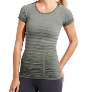 Athleta Gradient Stripe Fastest Track Tee Shirt